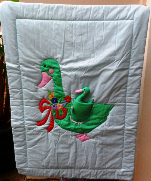 Baby Quilt - Mother & Baby Duck