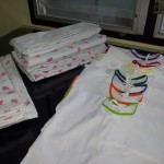 Fabric diapers and baby shirts