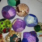 The finished fabric balls