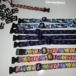 Production line, partial assemby of dog collars