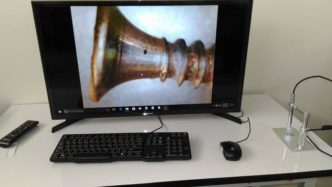 Using USB microscope to display image